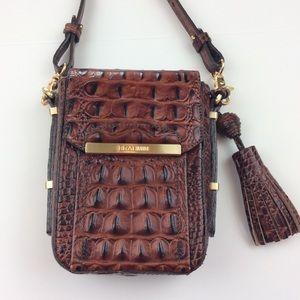Brahmin Croc Embossed Leather Crossbody Bag NWOT